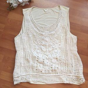 Intricate crochet warm summer tank 3X